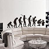 YESURPRISE 人類の進化 ウォールステッカー ウォールペーパー シール リビング 子供部屋 お風呂にもOK♪ 60x90 cm