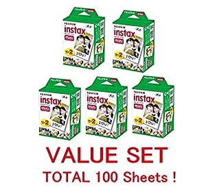 Fujifilm Instax Mini Instant Film, 2 x 10 Shoots x 5Pack (Total 100 Shoots) Value Set (With our shop original product description)