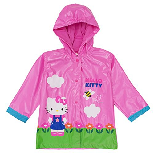 Sanrio Hello Kitty Girl's Pink Rain Coat -Size 7