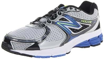 New Balance 680v2, Men's Running Shoes, Silver/Blue, 6.5 UK