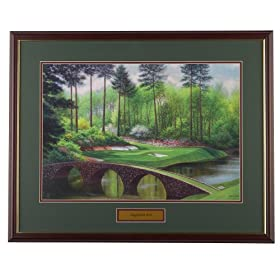 Golf, Gifts, & Gallery H907 Augusta #12 Framed Art