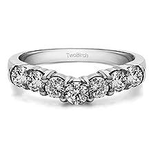 buy 0.5 Ct. Diamonds Diamond Slightly Contoured Classic Style Wedding Ring Set In 14K White Gold (0.5 Ct. Twt.) (Diamonds G-H,I2-I3) In 14K White Gold (1/2 Ct. Twt.)