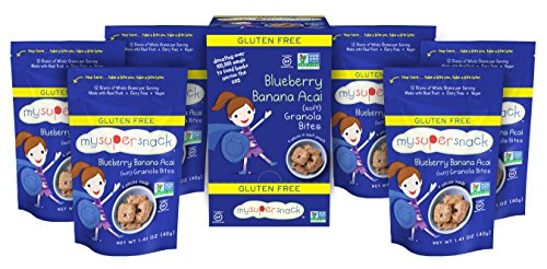 MySuperSnack Soft Granola Bites, Blueberry Banana Acai, 1.41 Ounce (Pack of 6) (My Llc compare prices)