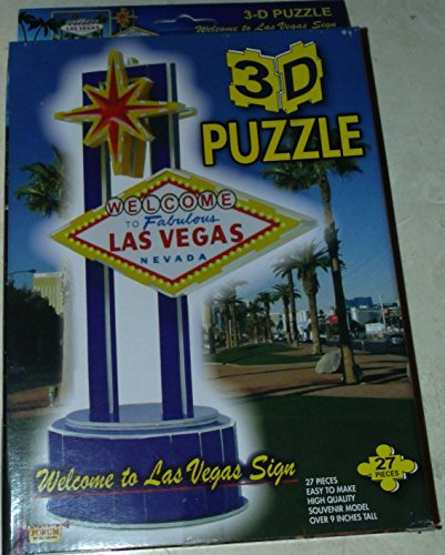 3D Puzzle - Welcome To Fabulous Las Vegas Nevada Sign - Souvenir Model