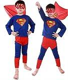 【コスプレ】 スーパーマン コスチューム 収納バッグ付 子供用 Mサイズ