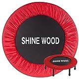 SHINEWOOD(シャインウッド) トランポリン 36インチ 91cm径 コイルスプリング32個 6本脚タイプ(MS) (レッド)