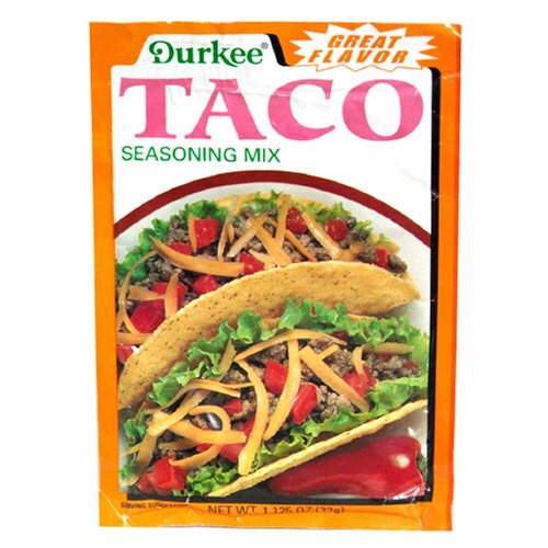 durkee taco seasoning mix 1 125 ounce packets pack of 24 durkee taco ...