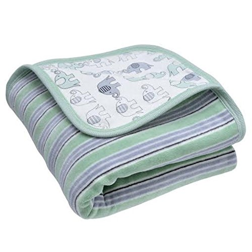 Organic Baby Blanket - Under The Nile Deluxe Blanket - Sage Green front-87581