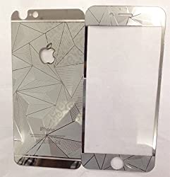 ShopAIS 3D Diamond Tempered Glass For Iphone 6 Silver - Front + Back Tempered Glass - We offer a Transperent Utra-Thin Back Cover worth Rs 199 Free with all orders