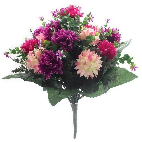 41cm-large-artificial-spikey-mum-hot-pink-wine-flower-bush-home-grave-wedding