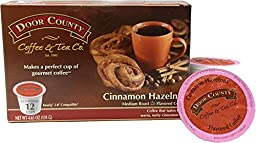 Door County Coffee Cinnamon Hazelnut, 12 Single Serve Cups