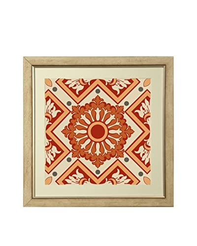 Art Source Pink & Orange Geometric Print I, Multi