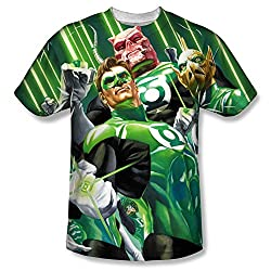 Green Lantern High Beams All Over Print Front T-Shirt