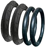 QUINNY BUZZ TYRE AND TUBE SET WITH PUNCTURE RESISTANT CITY JET TYRES
