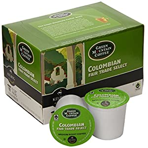 Keurig, Green Mountain Coffee, Colombian Fair Trade Select, K-Cup 144 Count