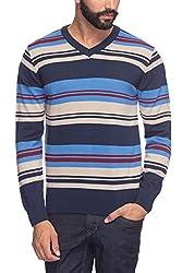 Raymond Men's Woolen Sweater (8907253190897_RMWX00486-B6_40_Dark Blue)