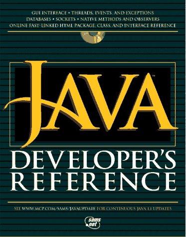 Java Developer's Reference
