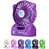 Small Fan Wild Wolf LED Light Portable Table Fan USB Handheld Rechargeable Fan Powered By By 4400mAh 2x2200mAh...