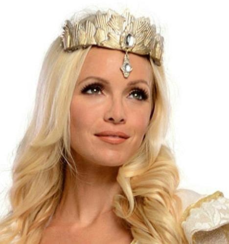 [Popcandy The Wizard of Oz Glinda the Good Witch Tiara Costume Accessory] (Witch Wig Stripes)