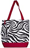 Zebra Damask Peace Polkadot Tote Bag