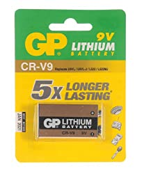 GP Batteries CRV9-C1 9V Lithium Battery (Card Of One) by GP Batteries