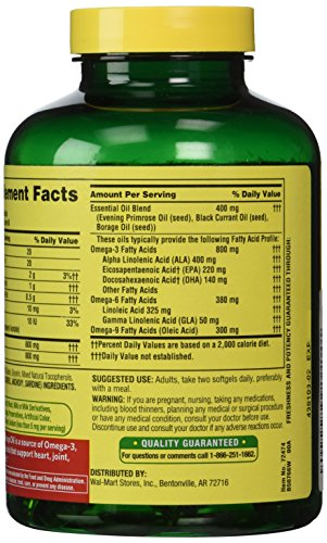 Spring valley fish flaxseed borage oil omega 3 6 9 for Fish flax borage oil