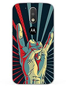 Yo Youth Rebel Symbol - Hard Back Case Cover for Moto G4 - Superior Matte Finish - HD Printed Cases and Covers