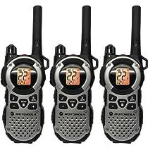 Motorola MT352TPR FRS Weatherproof Two-Way - 35 Mile Radio Triple Pack - Silver