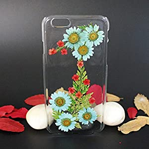 Beautiful Real Flowers Clear Slim Unique Design Phone Case for iPhone 6(6)