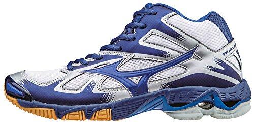 Mizuno Wave Bolt Mid Scarpe da Pallavolo, Uomo, Bianco (White/Dazzlingblue/Twilightblue), 43
