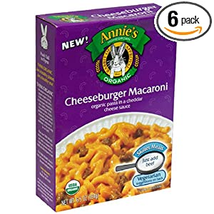 organic cheese burger macaroni