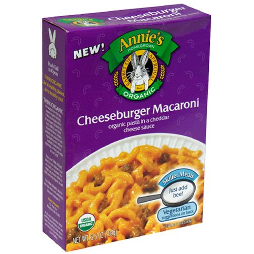 Annie's Homegrown Organic Cheeseburger Macaroni Skillet Meal, 6.5-Ounce Boxes (Pack of 6)