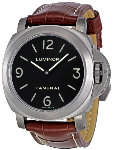 Panerai Men's PAM00176 Luminor Base Black Dial Watch