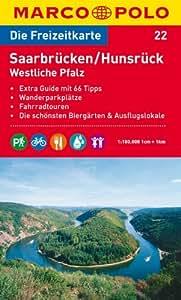 MARCO POLO Freizeitkarte Saarbrücken, Hunsrück, Westliche Pfalz 1:100.000 (MARCO POLO Freizeitkarten)