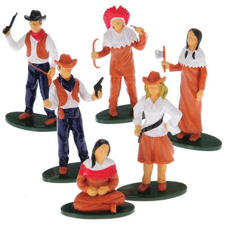 Western Figures, Set of 12 (Six Assorted Poses)