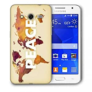 Snoogg Peace Printed Protective Phone Back Case Cover For Samsung Galaxy Core 2 / Core II G355H