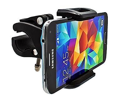 mobilefox® 360° Fahrrad Halterung Handyhalterung Bike Lenker Halter MTB Navigation für Smartphone Samsung Galaxy S6 / S5 / S5 mini / A7 / A5 / A3 / Alpha / S4 / S4 mini / S4 Active / S3 / S3 mini / S2 / ATIV S / Note Edge / Note 4 / Note 3 / Note 3 Neo