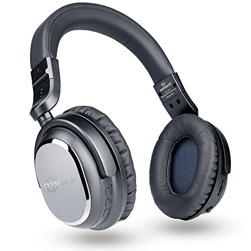 Naztech i9 Wireless Active Noise Cancelling Headphones with In-line Mic, aptX Bluetooth 4.1, HD Quality, Low Latency, Enhanced Bass, up to 15 hrs Play Time for Smartphones, Tablets & Computers