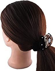 Anuradha Art Black Colour Designer Black Colour Hair Accessories Hair Band Stylish Rubber Band For Women/Girls