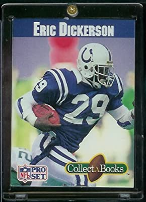 "1990 ProSet Eric Dickerson Indianapolis Colts ""Collect A Book"" Football Card - Mint Condition - Shipped In Protective ScrewDown Display Case - A Card & Collectible All In One"