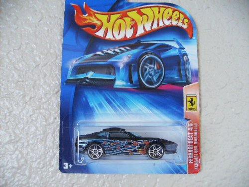 Hot Wheels Ferrari 550 Maranello 2004 Ferrari Heat Series #4 Black W/pr5's