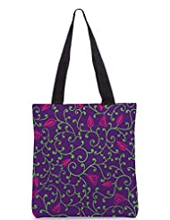 Snoogg Seamless Pattern With Leaf Designer Poly Canvas Tote Bag - B012FZ0BAG
