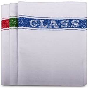 Cotton Rich Glass Cloth. High Quality Alternative To The Tea Towel. 10 Per Pack
