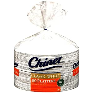 Chinet Platters, Extra Large, 100 Count by Chinet