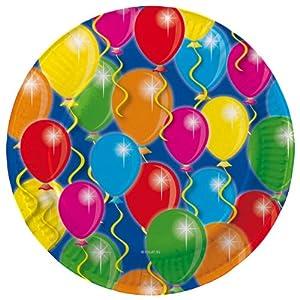 8 teller ballons f r party und geburtstag for Kindergeburtstag pappteller