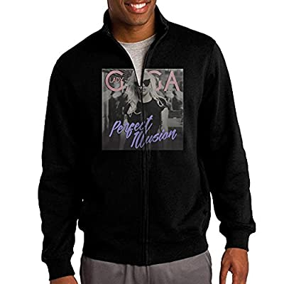 Men Lady Gaga Perfect Illusion Full Zip Up Hoodie Jackets