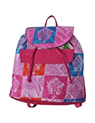 Stylocus Haversack Stylish Cotton Printed Pink Haversack Pink Color
