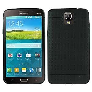 Heartly New Retro Dotted Design Hole Soft TPU Matte Bumper Back Case Cover For Samsung Galaxy Mega 2 LTE SM-G750F - Rugged Black