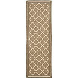 Safavieh Courtyard Collection CY6918-242 Brown and Bone Indoor/ Outdoor Runner, 2 feet 3 inches by 12 feet (2\'3\