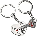 "chinkyboo Arrow & ""I Love You"" Heart & Key Lovers Couple Key Chain Ring Keychain Keyring Keyfob Lover Gift"